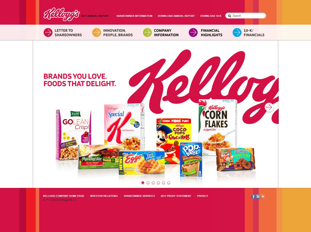 the kellogg company The battle of the cornflakes the battle creek toasted corn flake company, later to be known as kellog's, was founded on february 19th, 1906  wk had started selling bran flakes in 1915 and all-bran in 1916 and his firm was the kellogg cereal company from 1922.