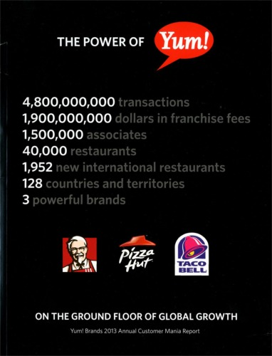 The 2013 Yum! Brands Customer Mania Report