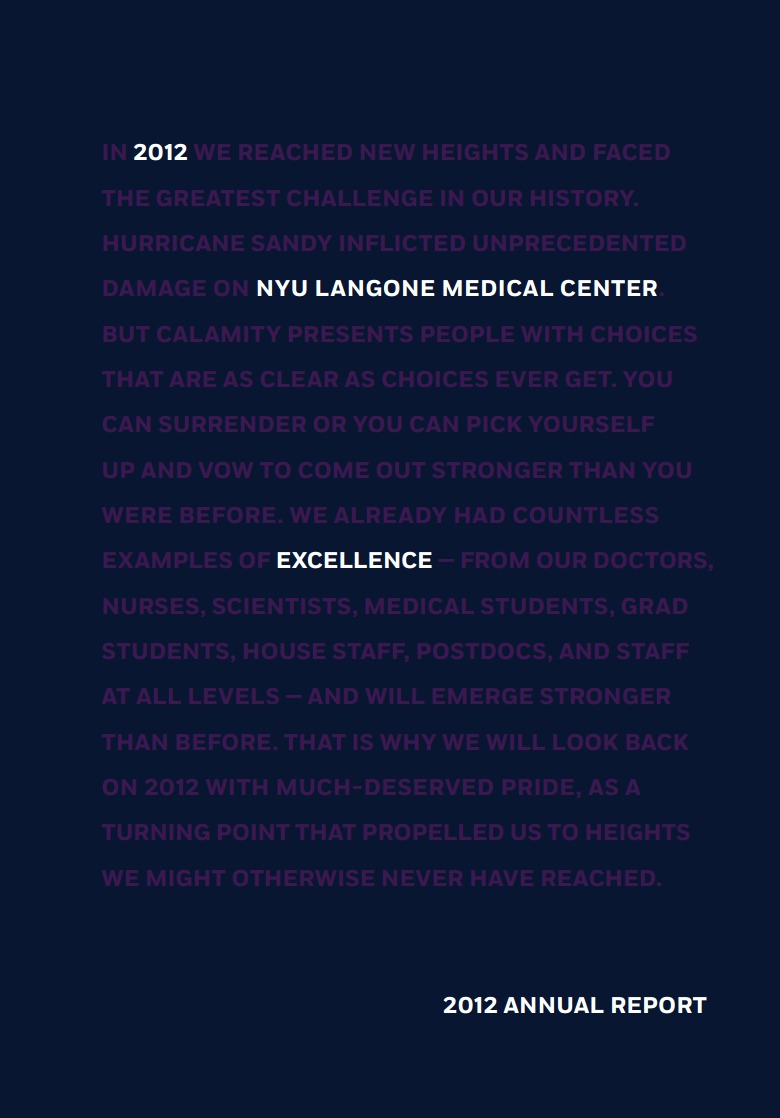 LACP 2014 Vision Awards Annual Report Competition | NYU Langone