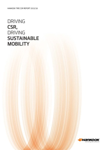 HANKOOK TIRE CSR REPORT 2015/16