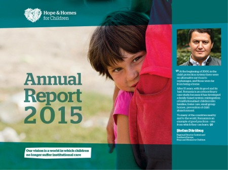 2015 Annual Report for Hope and Homes for Children Romania