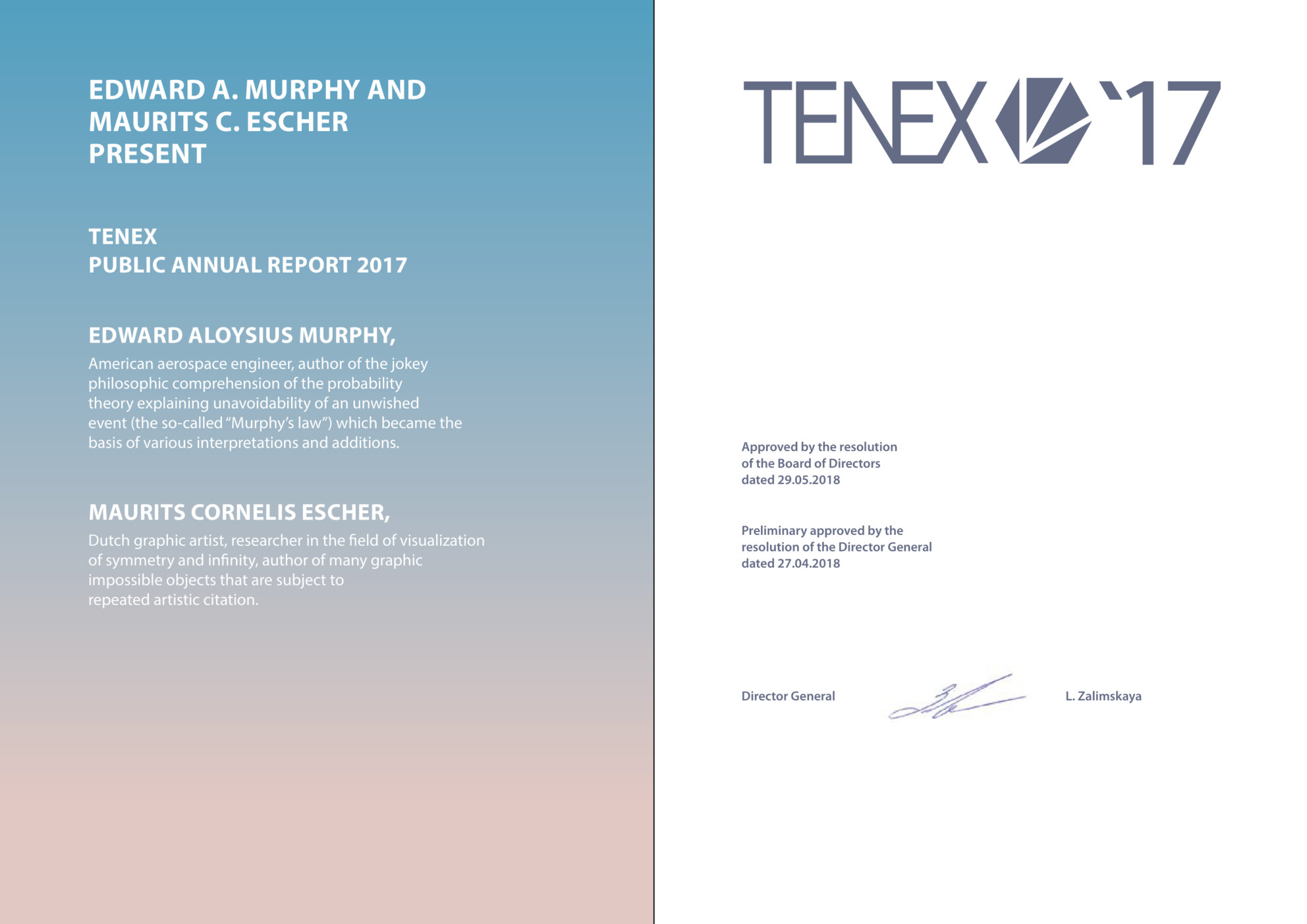 LACP 2017/18 Vision Awards Annual Report Competition | TENEX