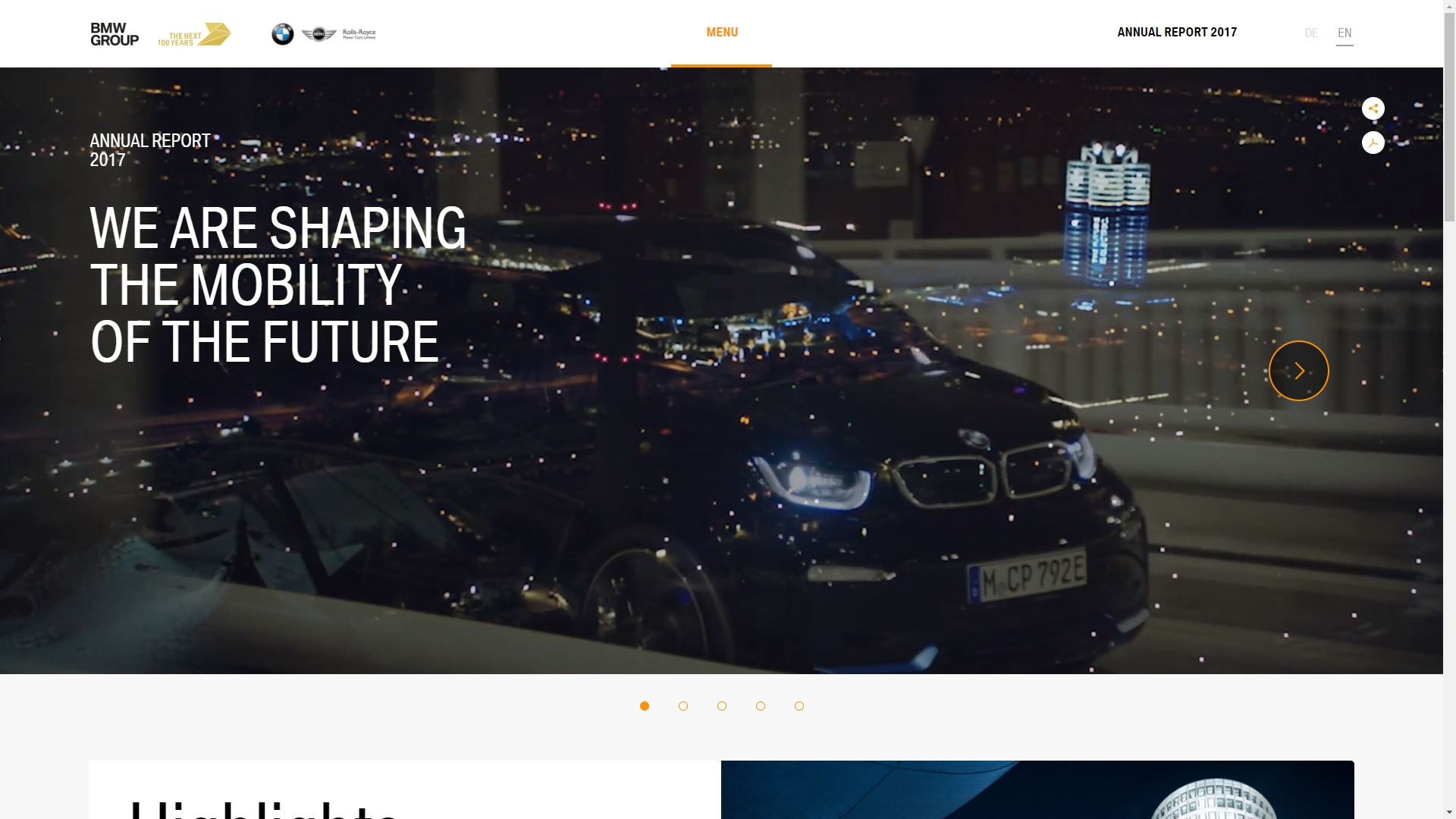 Lacp 2017 Vision Awards Annual Report Competition Bmw Group Eqs