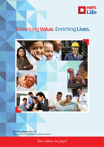 THE HDFC STANDARD LIFE INSURANCE COMPANY LTD ANNUAL REPORT 2017-18