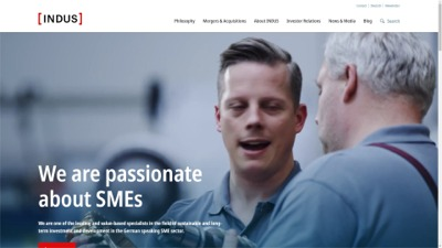 INDUS HOLDING AG Corporate Website - We are passionate about SMEs