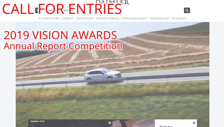 annual report awards, annual report competition, annual reports