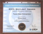 LACP Award Certificate, Duplicate Award Certificate, Additional Award Materials