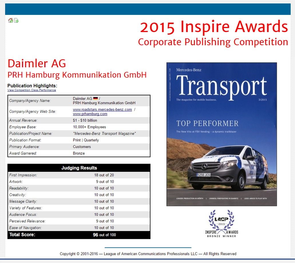 annual report awards, annual report competition, annual report contest